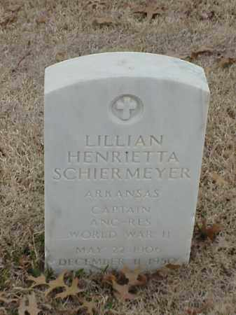 SCHIERMEYER  (VETERAN WWII), LILLIAN HENRIETTA - Pulaski County, Arkansas | LILLIAN HENRIETTA SCHIERMEYER  (VETERAN WWII) - Arkansas Gravestone Photos