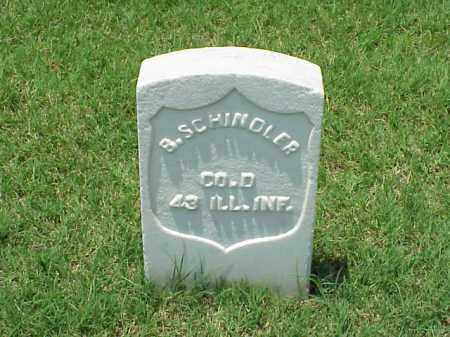 SCHINDLER (VETERAN UNION), B - Pulaski County, Arkansas | B SCHINDLER (VETERAN UNION) - Arkansas Gravestone Photos