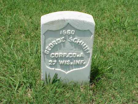 SCHMITT (VETERAN UNION), GEORGE - Pulaski County, Arkansas | GEORGE SCHMITT (VETERAN UNION) - Arkansas Gravestone Photos