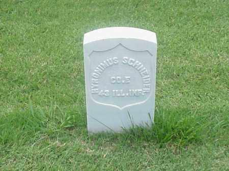 SCHNEIDER (VETERAN UNION), HYRONIMUS - Pulaski County, Arkansas | HYRONIMUS SCHNEIDER (VETERAN UNION) - Arkansas Gravestone Photos