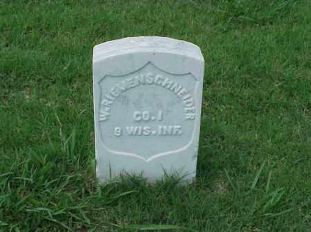 RIEMENSCHNEIDER (VETERAN UNION, W - Pulaski County, Arkansas | W RIEMENSCHNEIDER (VETERAN UNION - Arkansas Gravestone Photos