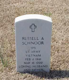 SCHNOOR (VETERAN VIET), RUSSELL A - Pulaski County, Arkansas | RUSSELL A SCHNOOR (VETERAN VIET) - Arkansas Gravestone Photos