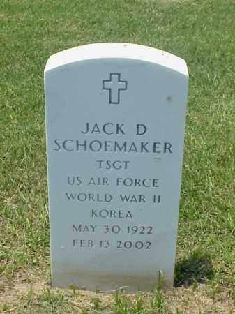 SCHOEMAKER (VETERAN 2 WARS), JACK D - Pulaski County, Arkansas | JACK D SCHOEMAKER (VETERAN 2 WARS) - Arkansas Gravestone Photos