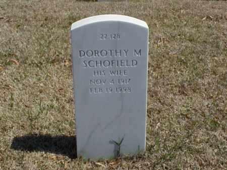 SCHOFIELD, DOROTHY M - Pulaski County, Arkansas | DOROTHY M SCHOFIELD - Arkansas Gravestone Photos