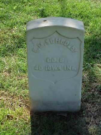 SCHOOLEY (VETERAN UNION), E M - Pulaski County, Arkansas   E M SCHOOLEY (VETERAN UNION) - Arkansas Gravestone Photos