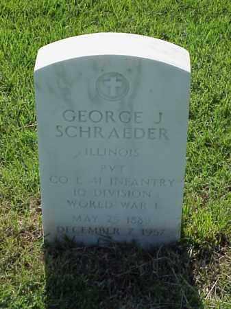 SCHRAEDER (VETERAN WWI), GEORGE J - Pulaski County, Arkansas | GEORGE J SCHRAEDER (VETERAN WWI) - Arkansas Gravestone Photos