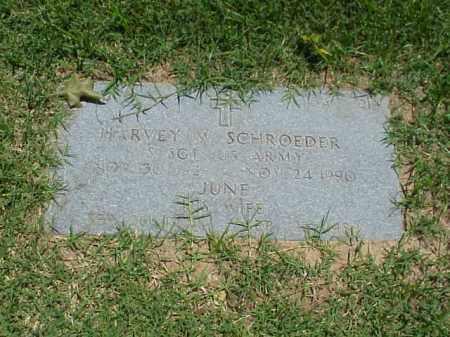 SCHROEDER (VETERAN WWII), HARVEY - Pulaski County, Arkansas | HARVEY SCHROEDER (VETERAN WWII) - Arkansas Gravestone Photos