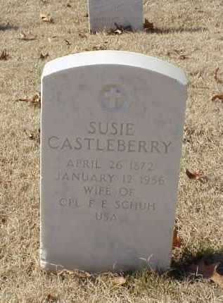 CASTLEBERRY SCHUH, SUSIE - Pulaski County, Arkansas | SUSIE CASTLEBERRY SCHUH - Arkansas Gravestone Photos