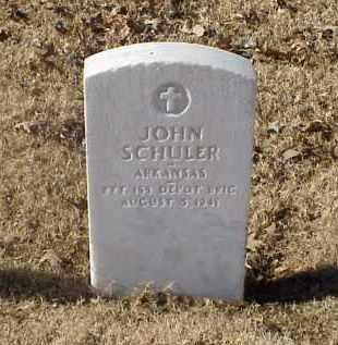 SCHULER (VETERAN WWI), JOHN - Pulaski County, Arkansas | JOHN SCHULER (VETERAN WWI) - Arkansas Gravestone Photos