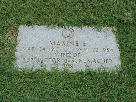 SCHUMACHER, MAXINE E - Pulaski County, Arkansas | MAXINE E SCHUMACHER - Arkansas Gravestone Photos