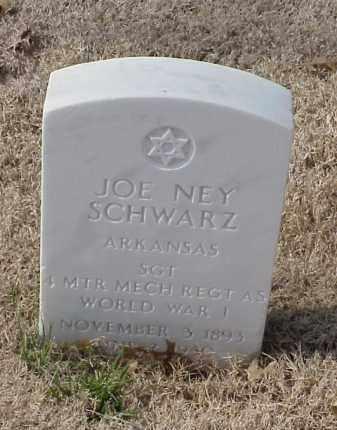 SCHWARZ (VETERAN WWI), JOE NEY - Pulaski County, Arkansas   JOE NEY SCHWARZ (VETERAN WWI) - Arkansas Gravestone Photos