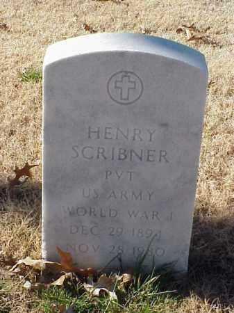 SCRIBNER (VETERAN WWI), HENRY - Pulaski County, Arkansas | HENRY SCRIBNER (VETERAN WWI) - Arkansas Gravestone Photos