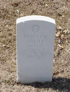 SCOTT  (VETERAN WWI), ERNEST H - Pulaski County, Arkansas   ERNEST H SCOTT  (VETERAN WWI) - Arkansas Gravestone Photos
