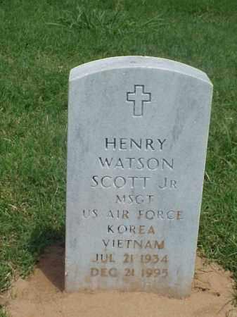 SCOTT, JR (VETERAN 2 WARS), HENRY WATSON - Pulaski County, Arkansas   HENRY WATSON SCOTT, JR (VETERAN 2 WARS) - Arkansas Gravestone Photos