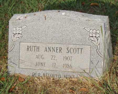 SCOTT, RUTH ANNER - Pulaski County, Arkansas | RUTH ANNER SCOTT - Arkansas Gravestone Photos