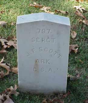 SCOTT (VETERAN CSA), J F - Pulaski County, Arkansas   J F SCOTT (VETERAN CSA) - Arkansas Gravestone Photos