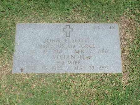 SCOTT (VETERAN 2 WARS), JOHN E - Pulaski County, Arkansas | JOHN E SCOTT (VETERAN 2 WARS) - Arkansas Gravestone Photos