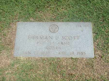 SCOTT (VETERAN KOR), HERMAN U - Pulaski County, Arkansas | HERMAN U SCOTT (VETERAN KOR) - Arkansas Gravestone Photos