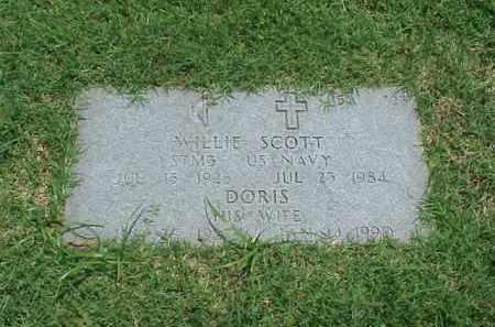 SCOTT (VETERAN WWII), WILLIE - Pulaski County, Arkansas | WILLIE SCOTT (VETERAN WWII) - Arkansas Gravestone Photos