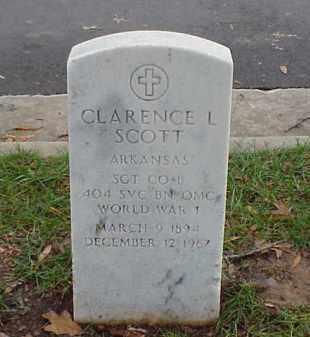 SCOTT (VETERAN WWI), CLARENCE L - Pulaski County, Arkansas | CLARENCE L SCOTT (VETERAN WWI) - Arkansas Gravestone Photos