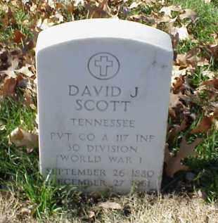 SCOTT (VETERAN WWI), DAVID J - Pulaski County, Arkansas   DAVID J SCOTT (VETERAN WWI) - Arkansas Gravestone Photos