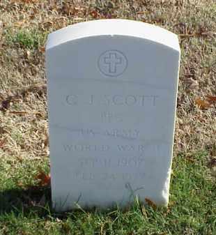 SCOTT (VETERAN WWII), C J - Pulaski County, Arkansas   C J SCOTT (VETERAN WWII) - Arkansas Gravestone Photos