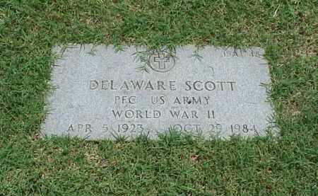 SCOTT (VETERAN WWII), DELAWARE - Pulaski County, Arkansas   DELAWARE SCOTT (VETERAN WWII) - Arkansas Gravestone Photos