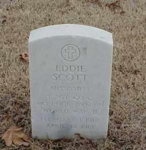 SCOTT (VETERAN WWII), EDDIE - Pulaski County, Arkansas | EDDIE SCOTT (VETERAN WWII) - Arkansas Gravestone Photos