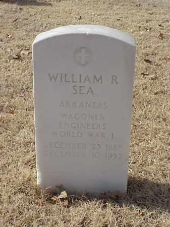 SEA (VETERAN WWI), WILLIAM R - Pulaski County, Arkansas | WILLIAM R SEA (VETERAN WWI) - Arkansas Gravestone Photos