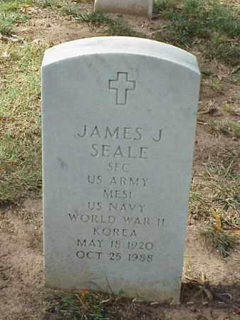 SEALE (VETERAN 2 WARS), JAMES J - Pulaski County, Arkansas   JAMES J SEALE (VETERAN 2 WARS) - Arkansas Gravestone Photos