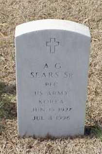 SEARS, SR (VETERAN KOR), A G - Pulaski County, Arkansas | A G SEARS, SR (VETERAN KOR) - Arkansas Gravestone Photos