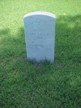 SEIGFRIED (VETERAN WWI), BERT - Pulaski County, Arkansas | BERT SEIGFRIED (VETERAN WWI) - Arkansas Gravestone Photos