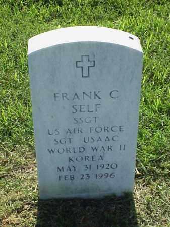SELF (VETERAN 2 WARS), FRANK C - Pulaski County, Arkansas   FRANK C SELF (VETERAN 2 WARS) - Arkansas Gravestone Photos