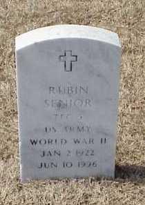 SENIOR (VETERAN WWII), RUBIN - Pulaski County, Arkansas | RUBIN SENIOR (VETERAN WWII) - Arkansas Gravestone Photos
