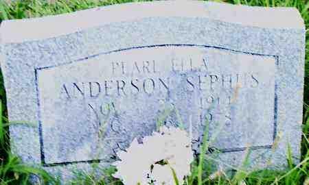 ANDERSON SEPHUS, PEARL ELLA - Pulaski County, Arkansas | PEARL ELLA ANDERSON SEPHUS - Arkansas Gravestone Photos