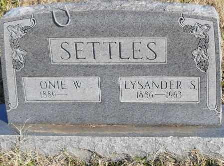 SETTLES, ONIE W. - Pulaski County, Arkansas | ONIE W. SETTLES - Arkansas Gravestone Photos