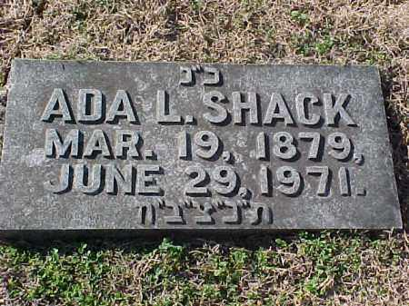 SHACK, ADA L - Pulaski County, Arkansas | ADA L SHACK - Arkansas Gravestone Photos