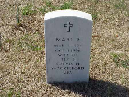 SHACKELFORD, MARY F - Pulaski County, Arkansas   MARY F SHACKELFORD - Arkansas Gravestone Photos