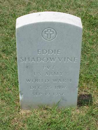 SHADOWVINE (VETERAN WWI), EDDIE - Pulaski County, Arkansas   EDDIE SHADOWVINE (VETERAN WWI) - Arkansas Gravestone Photos