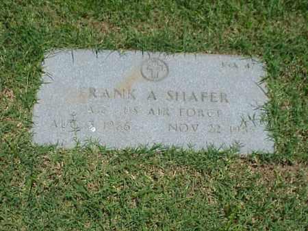 SHAFER (VETERAN), FRANK A - Pulaski County, Arkansas | FRANK A SHAFER (VETERAN) - Arkansas Gravestone Photos