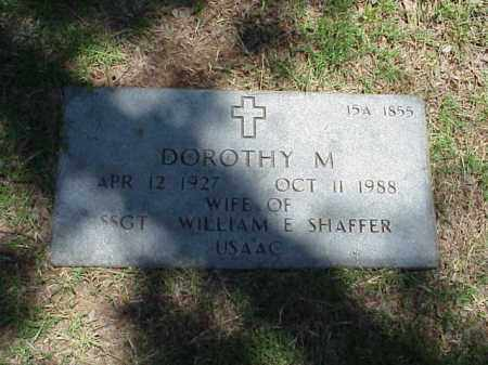 SHAFFER, DOROTHY M - Pulaski County, Arkansas | DOROTHY M SHAFFER - Arkansas Gravestone Photos