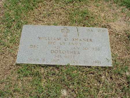 SHANER (VETERAN WWII), WILLIAM O - Pulaski County, Arkansas | WILLIAM O SHANER (VETERAN WWII) - Arkansas Gravestone Photos