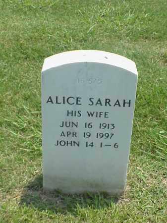 SHARP, ALICE SARAH - Pulaski County, Arkansas | ALICE SARAH SHARP - Arkansas Gravestone Photos