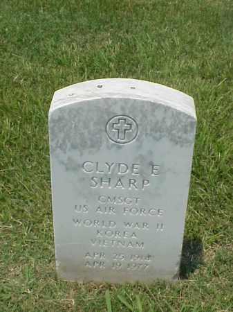 SHARP (VETERAN 3 WARS), CLYDE E - Pulaski County, Arkansas   CLYDE E SHARP (VETERAN 3 WARS) - Arkansas Gravestone Photos