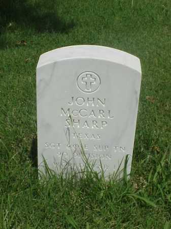 SHARP (VETERAN WWI), JOHN MCCARL - Pulaski County, Arkansas | JOHN MCCARL SHARP (VETERAN WWI) - Arkansas Gravestone Photos