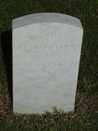 SHAW, ELIZABETH K - Pulaski County, Arkansas   ELIZABETH K SHAW - Arkansas Gravestone Photos