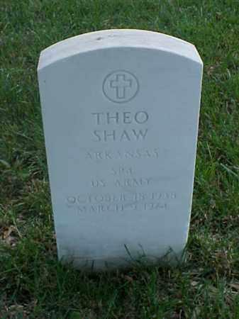 SHAW (VETERAN), THEO - Pulaski County, Arkansas   THEO SHAW (VETERAN) - Arkansas Gravestone Photos