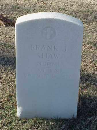 SHAW (VETERAN UNION), FRANK J - Pulaski County, Arkansas | FRANK J SHAW (VETERAN UNION) - Arkansas Gravestone Photos