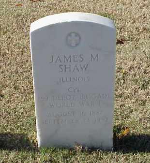 SHAW (VETERAN WWI), JAMES M - Pulaski County, Arkansas   JAMES M SHAW (VETERAN WWI) - Arkansas Gravestone Photos