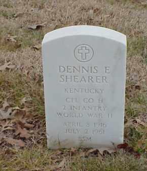 SHEARER  (VETERAN WWII), DENNIS E - Pulaski County, Arkansas   DENNIS E SHEARER  (VETERAN WWII) - Arkansas Gravestone Photos